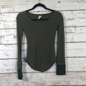 We the Free People Gray Long Henley